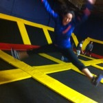 If you've never tried trampoline dodgeball...such a great workout.