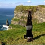The Cliffs of Moher in Ireland…it's illegal to climb the fence and get this close to the edge…so guess who had to do it.