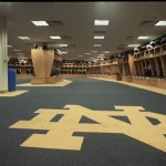 Notre Dame Football Locker Room